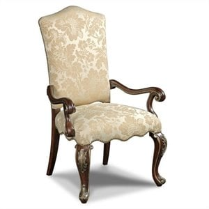 Hooker Furniture Grand Palais Arm Dining Chair in Lillian Tusk