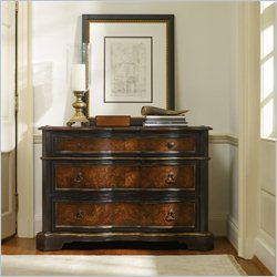 Hooker Furniture Grandover 3-Drawer Chest in Black and Handrubbed Gold