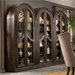 Hooker Furniture Rhapsody Bunching Curio in Rustic Walnut