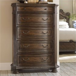 Hooker Furniture Rhapsody 5-Drawer Chest in Rustic Walnut