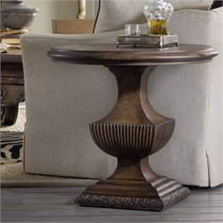 Hooker Furniture Rhapsody Urn Pedestal Table in Rustic Walnut