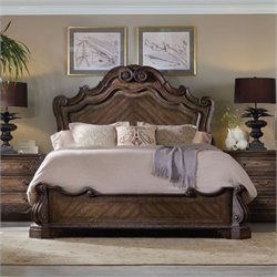 Hooker Furniture Rhapsody Panel Bed in Rustic Walnut - Queen