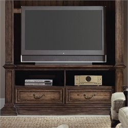 Hooker Furniture Rhapsody 78'' Entertainment Console in Rustic Walnut