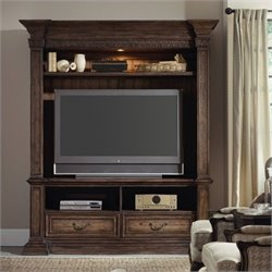 Hooker Furniture Rhapsody 2-Piece 78'' Entertainment Center in Rustic Walnut