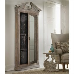 Hooker Furniture Rhapsody Floor Mirror with Jewelry Storage in Light Wood