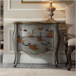 Hooker Furniture Rhapsody 2-Drawer Bombe Chest in Soft Azure Blue