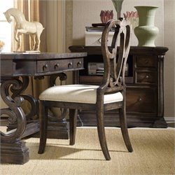 Hooker Furniture DaValle Upholstered Desk Chair in Dark Hickory