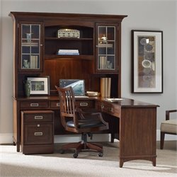 Hooker Furniture Latitude 5-Piece Office Desk Set in Walnut