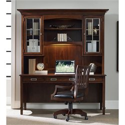 Hooker Furniture Latitude 2-Piece Computer Desk Set in Walnut