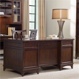 Hooker Furniture Latitude Executive Desk in Walnut