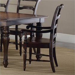Hooker Furniture Eastridge LadderbackArm Dining Chair in Dark Cherry