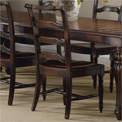 Hooker Furniture Eastridge Ladderback Dining Chair in Dark Cherry