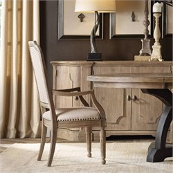 Hooker Furniture Corsica Upholstered Arm Dining Chair in Light