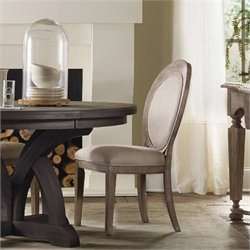 Hooker Furniture Corsica Upholstered Oval Back  Dining Chair in Light