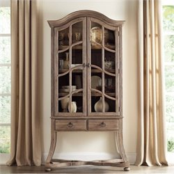 Hooker Furniture Corsica 2-Door Display Cabinet in Light Wood