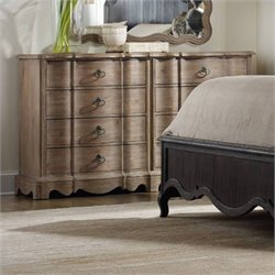 Hooker Furniture Corsica 8-Drawer Double Dresser in Light Wood