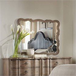 Hooker Furniture Corsica Landscape Accent Mirror in Light Wood