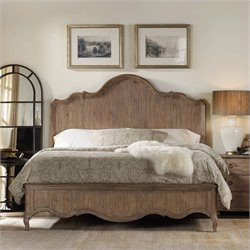 Hooker Furniture Corsica Panel Bed in Light Wood - Queen