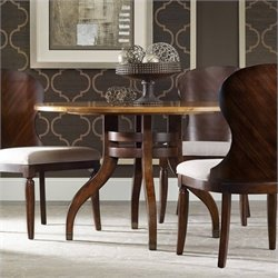 Hooker Furniture Palisade Round Dining Table in Walnut - 48 inch