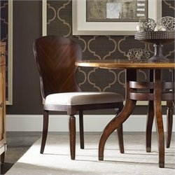Hooker Furniture Palisade  Back Dining Chair in Walnut and Taupe