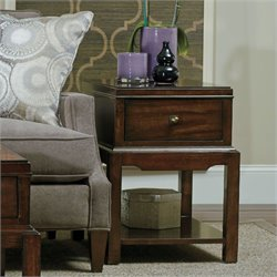 Hooker Furniture Palisade 1-Drawer Chairside Table in Walnut