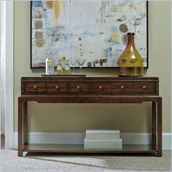 Hooker Furniture Palisade 2-Drawer Sofa Table in Walnut