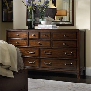 Hooker Furniture Palisade 11-Drawer Dresser in Walnut