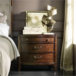 Hooker Furniture Palisade 3-Drawer Nightstand in Walnut