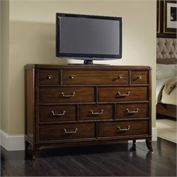Hooker Furniture Palisade 10-Drawer Media Chest in Walnut