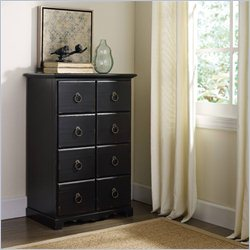 Hooker Furniture 8-Drawer Tall Accent Chest in Black