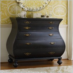 Hooker Furniture 5-Drawer Bombe Accent Chest in Black