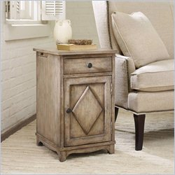 Hooker Furniture 1-Drawer 1-Door Chairside Table in Light Wood