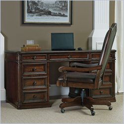 Hooker Furniture Haddon Hall Knee Hole Desk in Warm Cherry