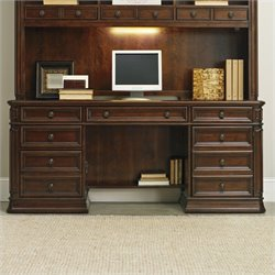 Hooker Furniture Haddon Hall Computer Credenza in Warm Cherry