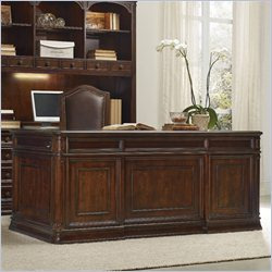 Hooker Furniture Haddon Hall Executive Desk in Warm Cherry