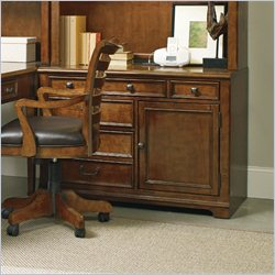 Hooker Furniture Shelton 3-Drawer 1-Door Computer Credenza in Light Cherry