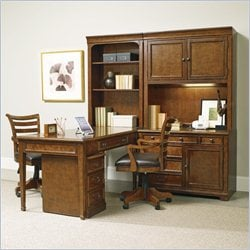 Hooker Furniture Shelton 6-Piece Computer Office Set in Light Cherry