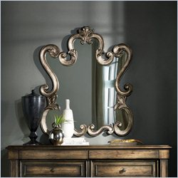 Hooker Furniture Rhapsody Accented Mirror in Rustic Champagne