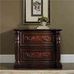 Hooker Furniture Grand Palais 2-Drawer Lateral File in Dark Walnut