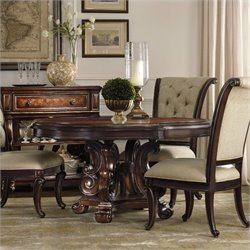 Hooker Furniture Grand Palais Round Pedestal Dining Table in Dark Walnut - 60 inch