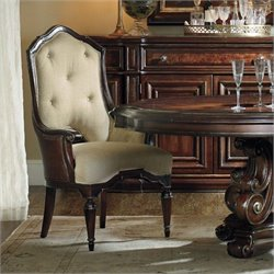 Hooker Furniture Grand Palais Host Dining Chair in Dark Walnut