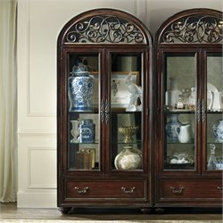 Hooker Furniture Grand Palais 2-Door Display Cabinet in Dark Walnut