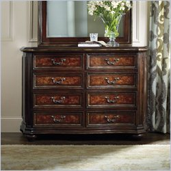 Hooker Furniture Grand Palais 8-Drawer Dresser in Dark Walnut