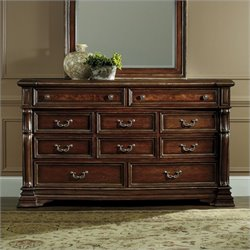 Hooker Furniture Grand Palais 10-Drawer Dresser in Dark Walnut