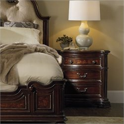 Hooker Furniture Grand Palais 3-Drawer Nightstand in Dark Walnut