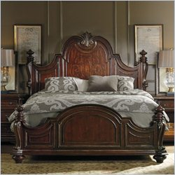 Hooker Furniture Grand Palais Low Post Panel Bed in Dark Walnut - Queen