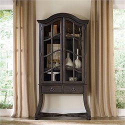 Hooker Furniture Corsica 2-Door Display Cabinet in Dark Wood