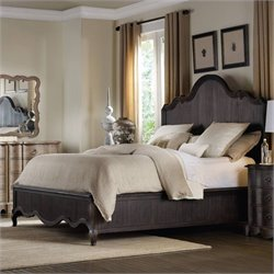 Hooker Furniture Corsica Panel Bed in Dark Wood