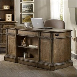 Hooker Furniture Solana Knee-Hole Desk in Light Oak