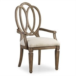 Hooker Furniture Solana Arm Dining Chair in Light Oak
